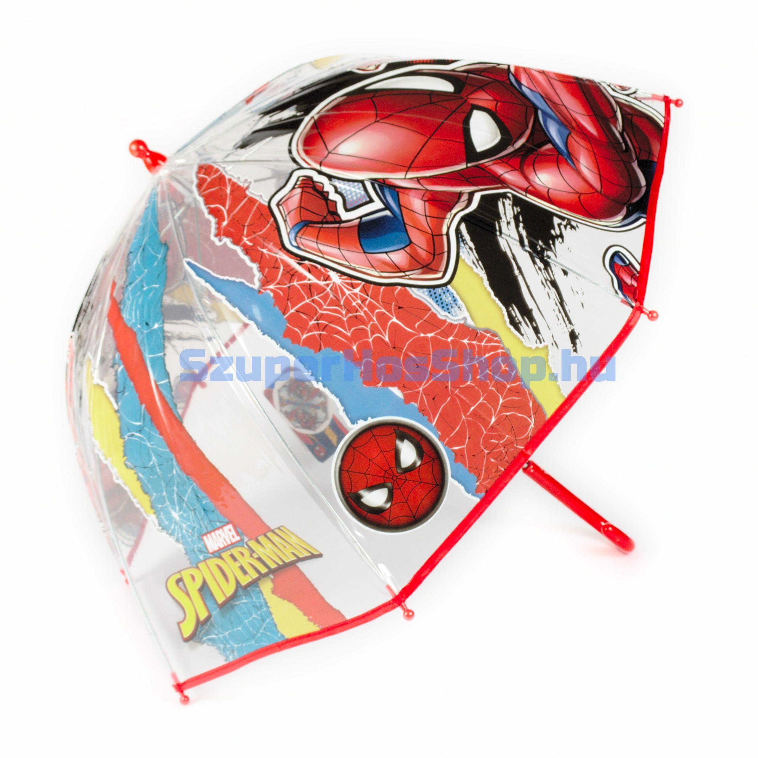 Pókember szilikon esernyő (Spiderman)
