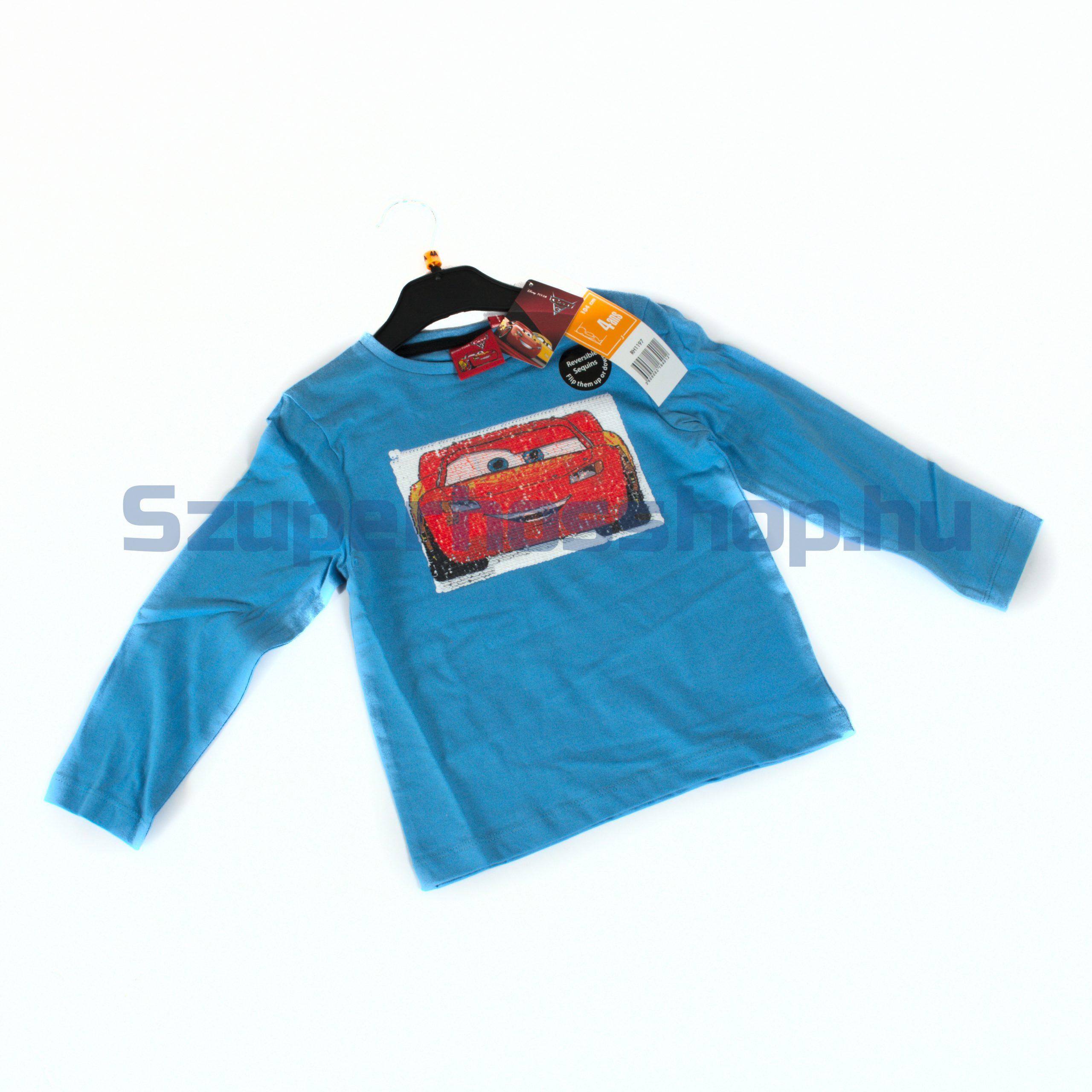 Verdák hosszúujjú póló megfordítható flitterekkel (Cars)
