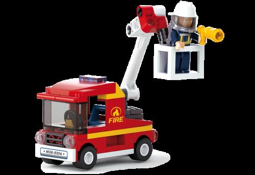 Sluban Fire építőjáték – darus tűzoltóautó