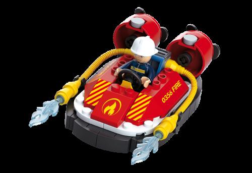 Sluban Fire építőjáték – kis tűzoltó légpárnás csónak