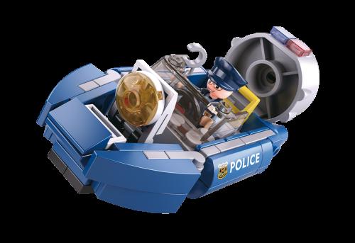 Sluban Police építőjáték – rendőrségi csónak (4 into 1)