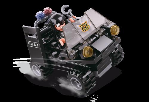 Sluban Police építőjáték – SWAT terepjáró (4 into 1)