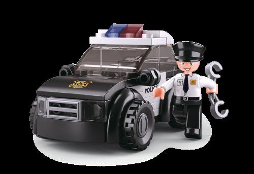 Sluban Police építőjáték – rendőrségi járőrautó (4 into 1)